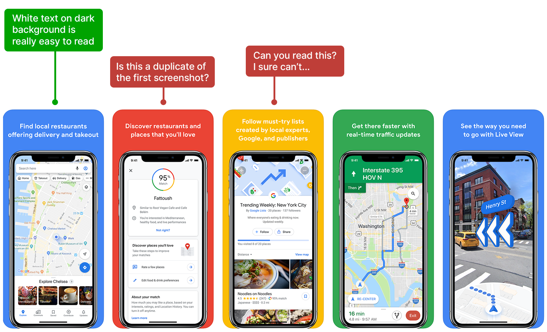 Google Maps screenshot analysis