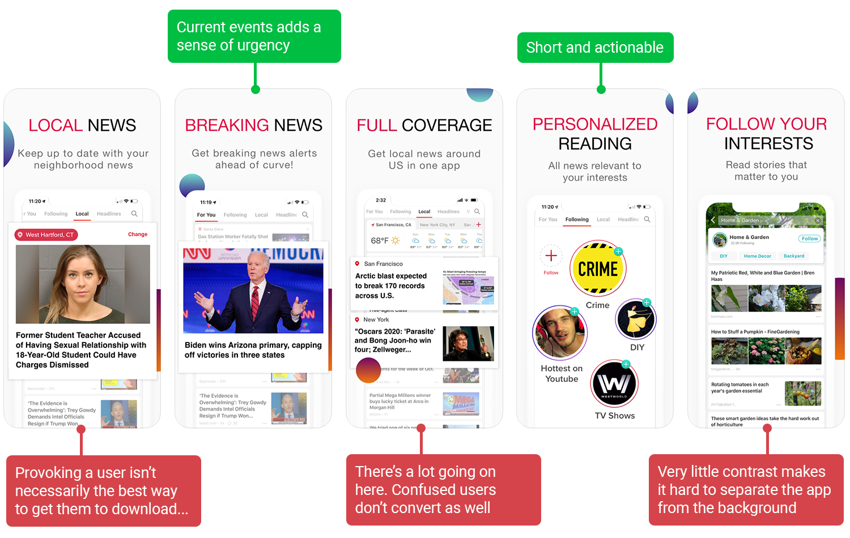 Screenshot analysis of News Break | ASO tools by Appfigures