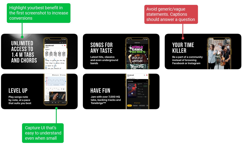 Screenshot analysis of Ultimate Guitar | ASO tools