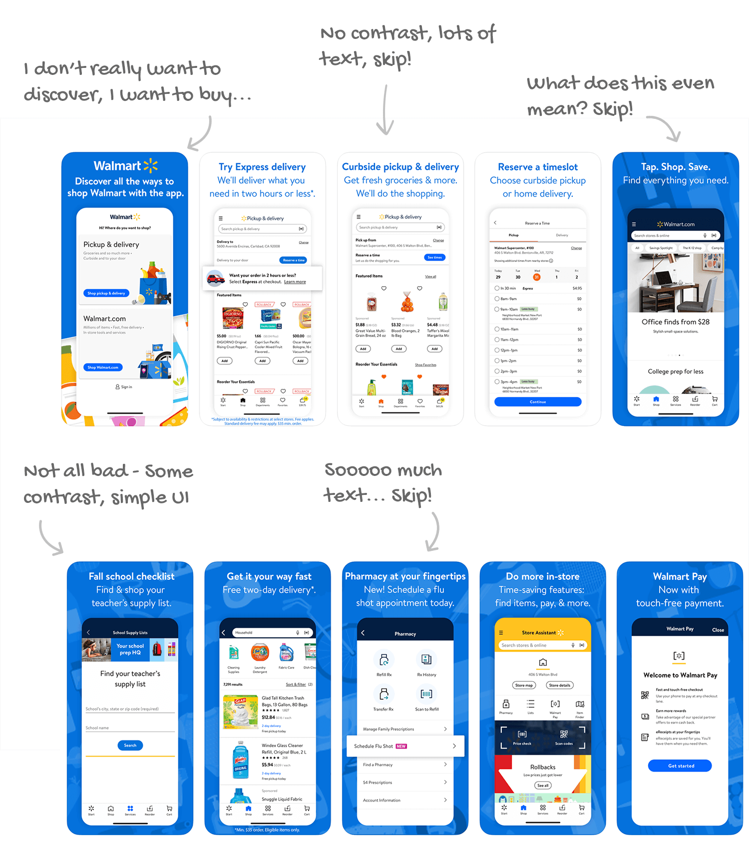 Walmart for iOS Screenshot Analysis by Appfigures